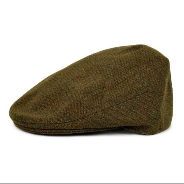 James Purdey Short Peek Tweed Cap Lomond