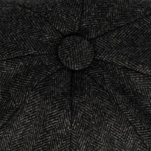 James Purdey Townton Tweed Cap Charcoal