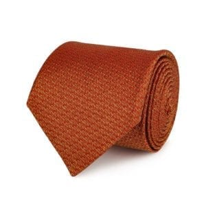 James Purdey Tweed Pattered Tie Red