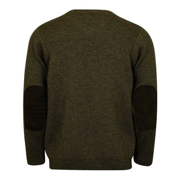 James Purdey V-Neck Marl Shooting Sweater Khaki Green