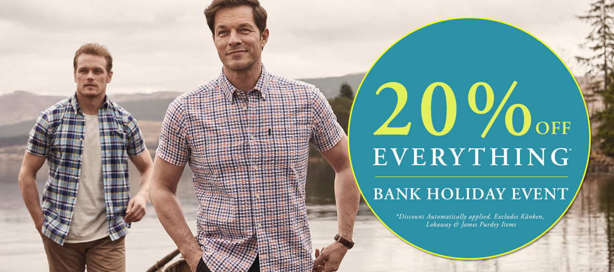 20% off This bank holiday!