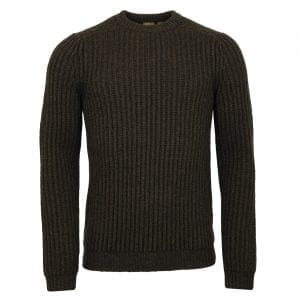 Musto Crew Neck Ribbed Knit Rifle Green
