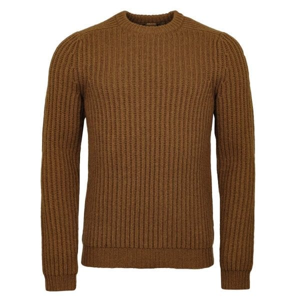 Musto Crew Neck Ribbed Knit Toffee
