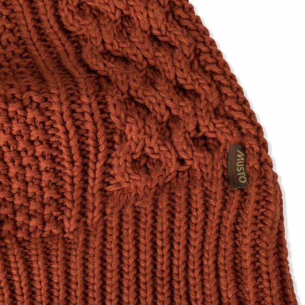 Musto Womens Hollie Cable Knit Burnt Sienna