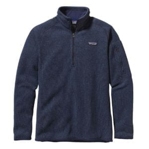 Patagonia Womens Better Sweater Fleece 1/4 Zip Classic Navy