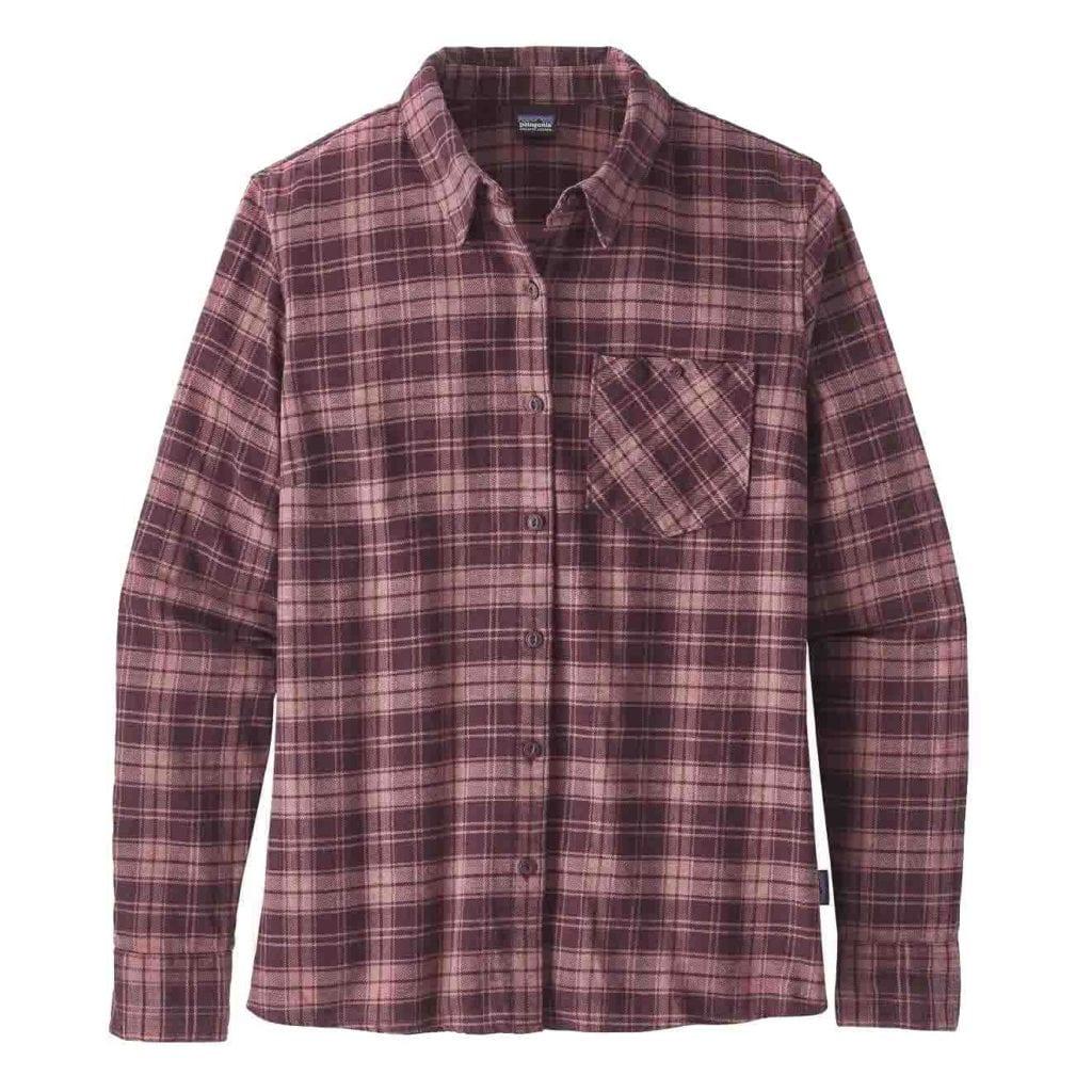 Patagonia Womens Heywood Flannel Shirt Dark Currant