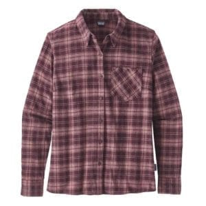 Patagonia Womens Heywood Flannel Shirt Dark Currant