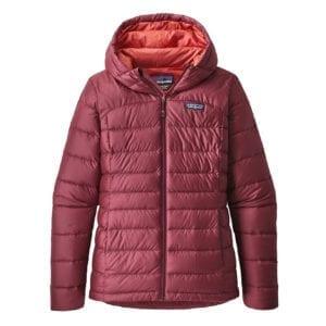Patagonia Womens Hi-Loft Down Hoody Jacket Arrow Red