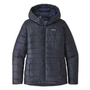 Patagonia Womens Hi-Loft Down Hoody Jacket Smolder Blue Navy