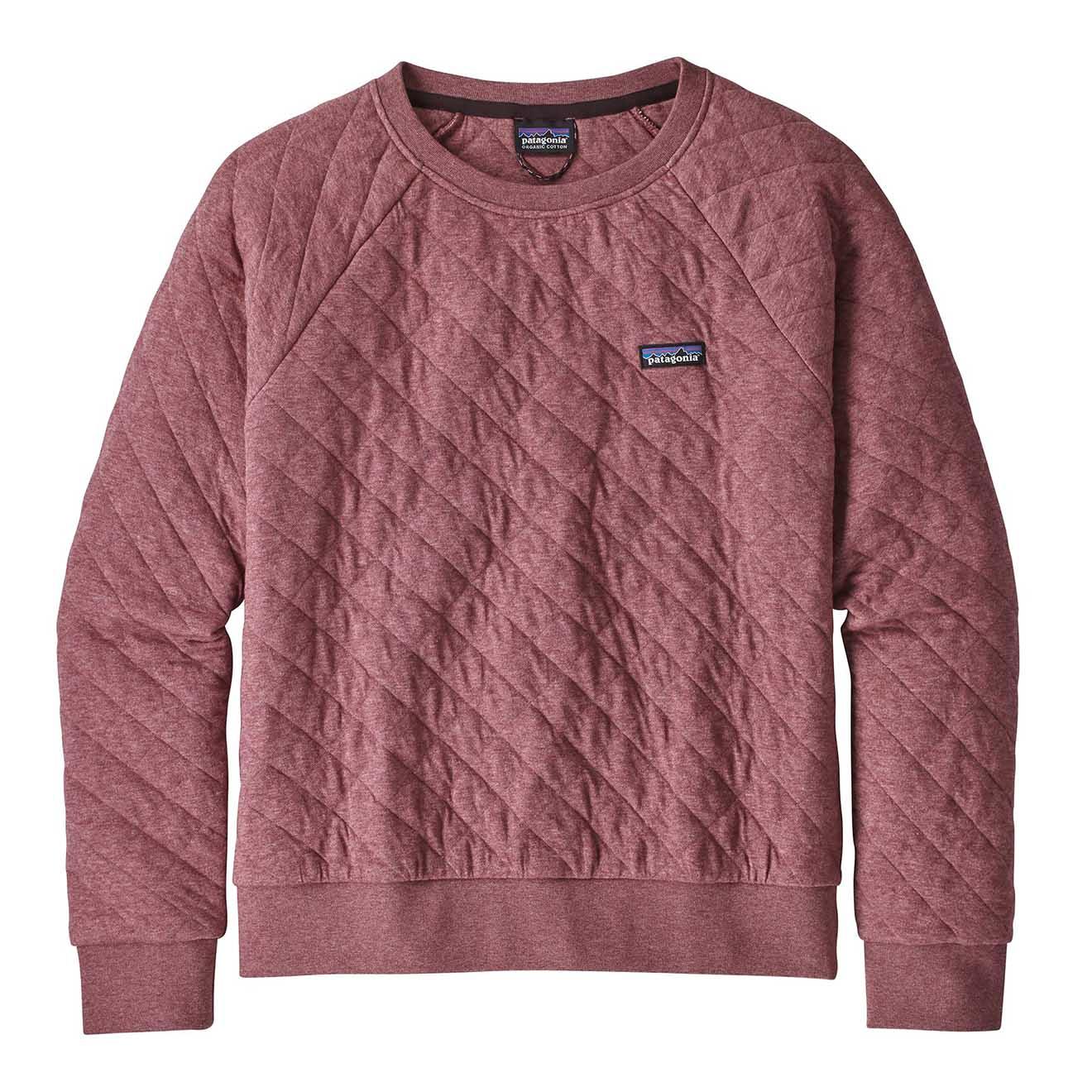 Patagonia Womens Organic Cotton Quilt Crew Sweat Kiln Pink