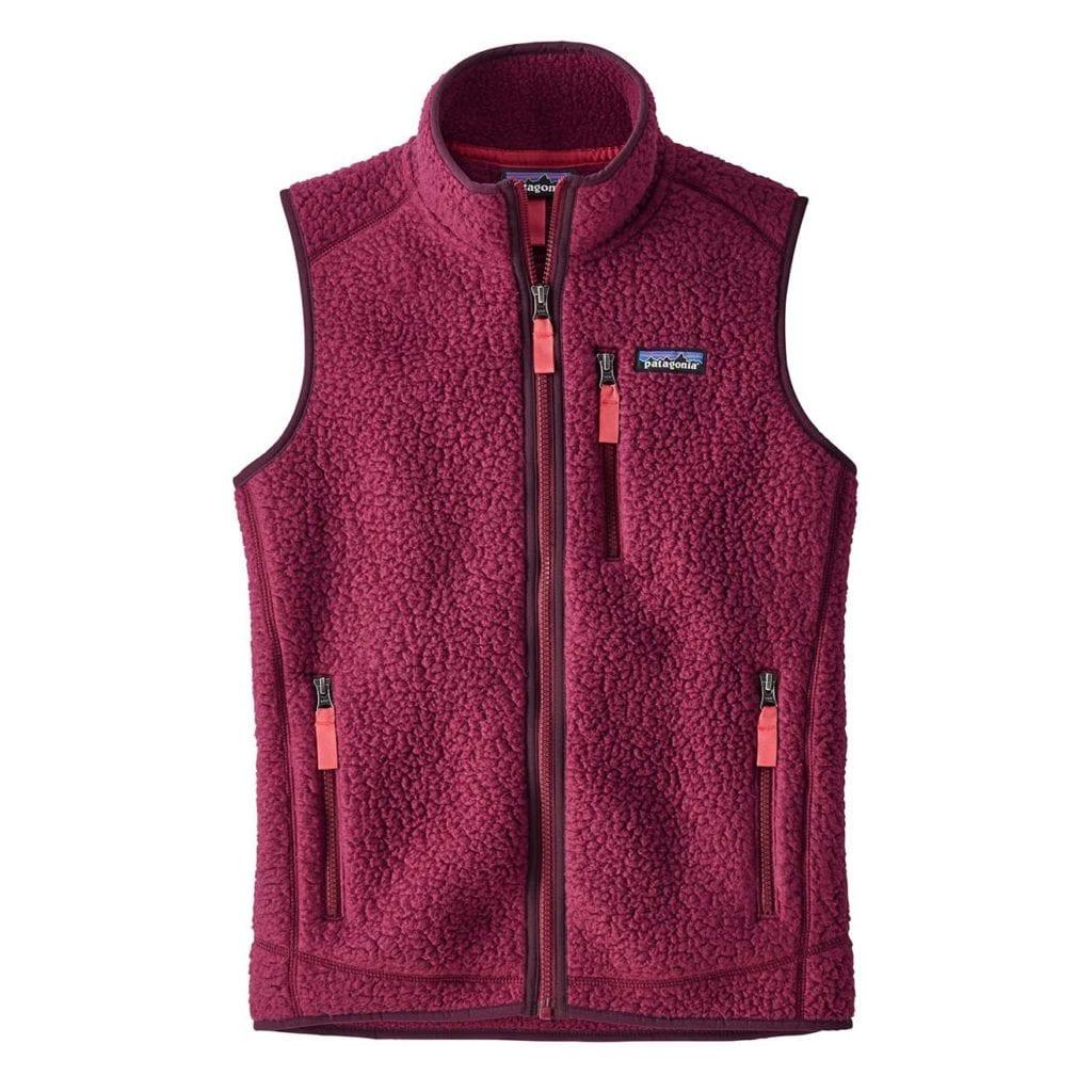 Patagonia Womens Retro Pile Vest Arrow Red