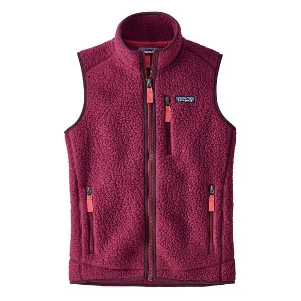 Patagonia Womens Retro Pile Vest Arrow Red