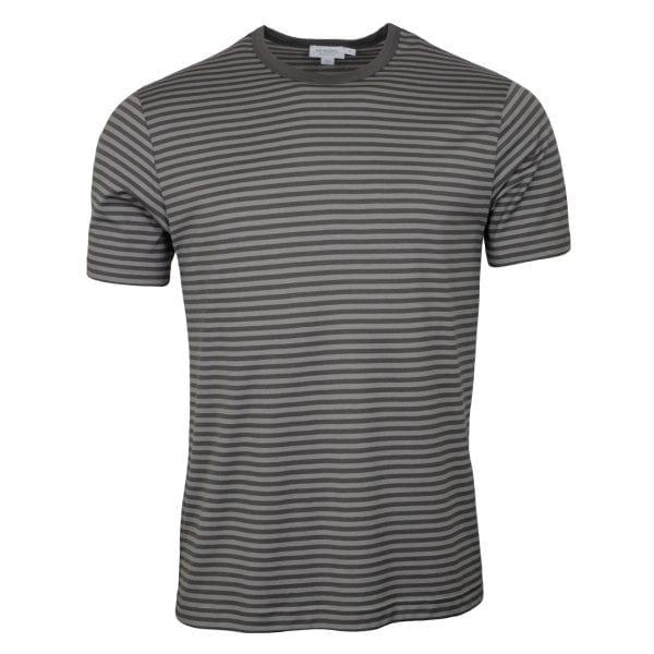Sunspel Classic Crew T-Shirt Light Grey / Mid Grey