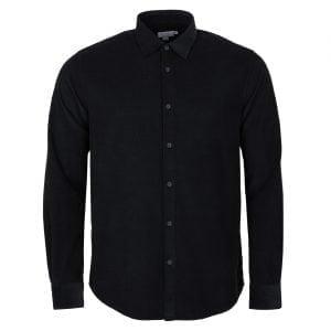 Sunspel Needle Cord Shirt Navy