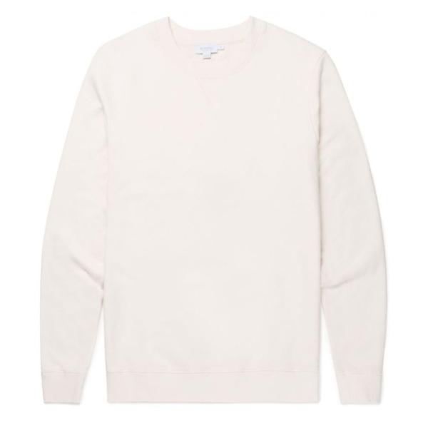 Sunspel Loopback Sweatshirt Archive White