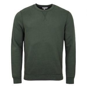 Sunspel Loopback Sweatshirt Scots Green