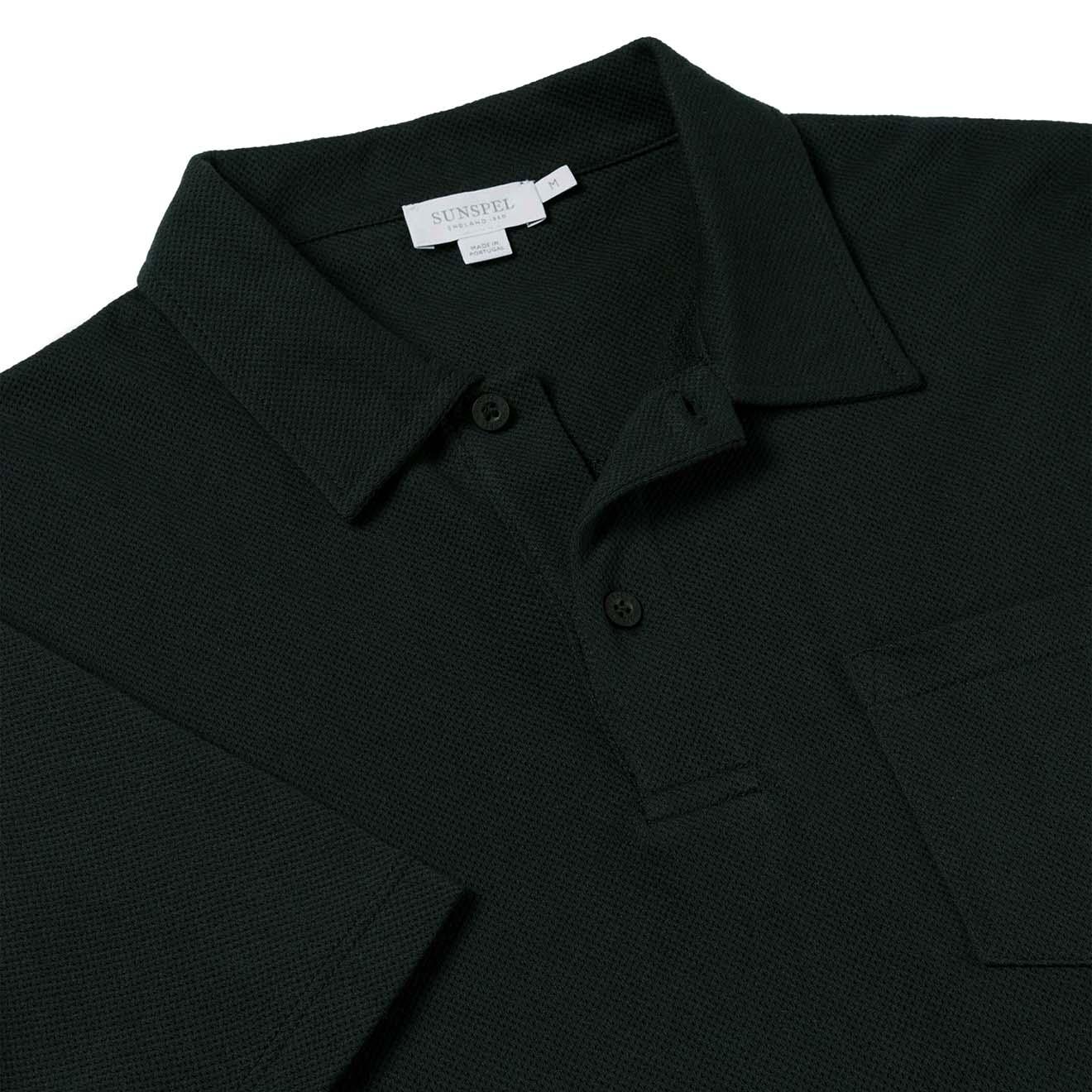 8086ecc1 Sunspel Short Sleeve Riviera Polo Botiglia Green - The Sporting Lodge