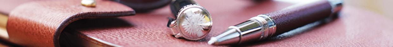 Mens Accessories Leather Wallet & Pen