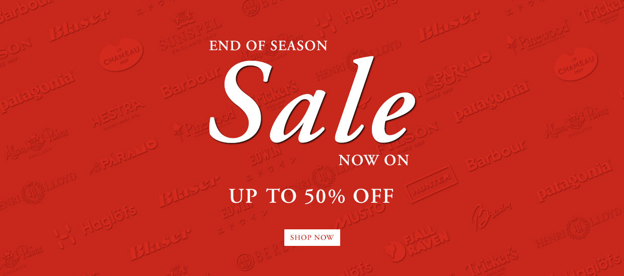 End of Season Sale Now On | Up to 50% off Selected Lines