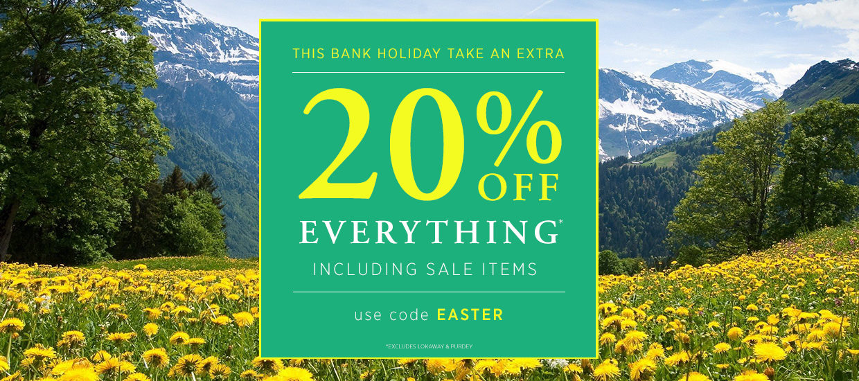 20% off EVERYTHING* - Use Code EASTER