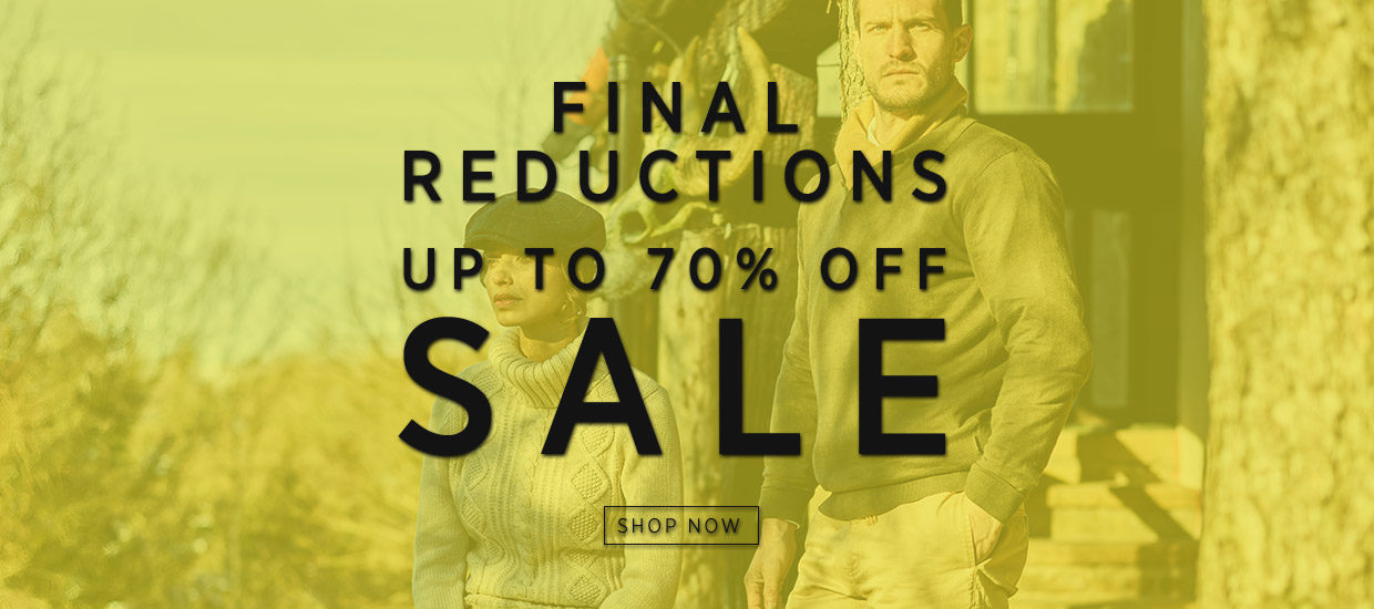 FINAL REDUCTIONS UP TO 70% OFF SALE