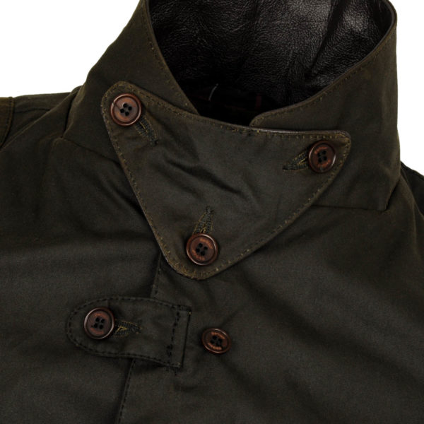 Barbour Beacon Sports Jacket Collar Protection Olive