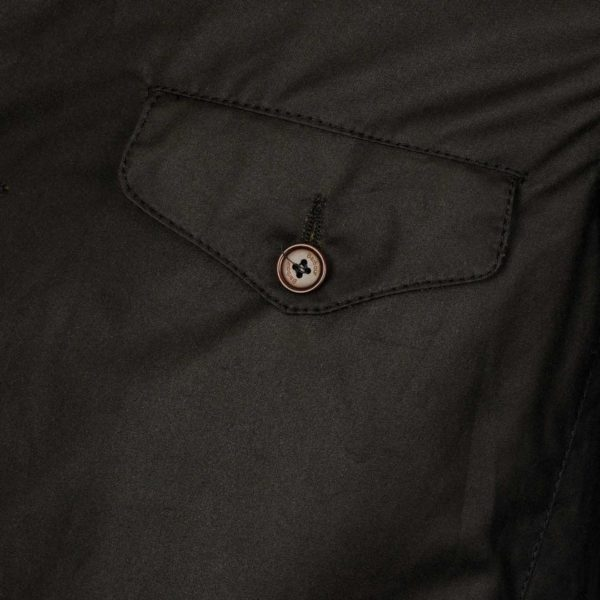 Barbour Beacon Sports Jacket Button Pocket Olive