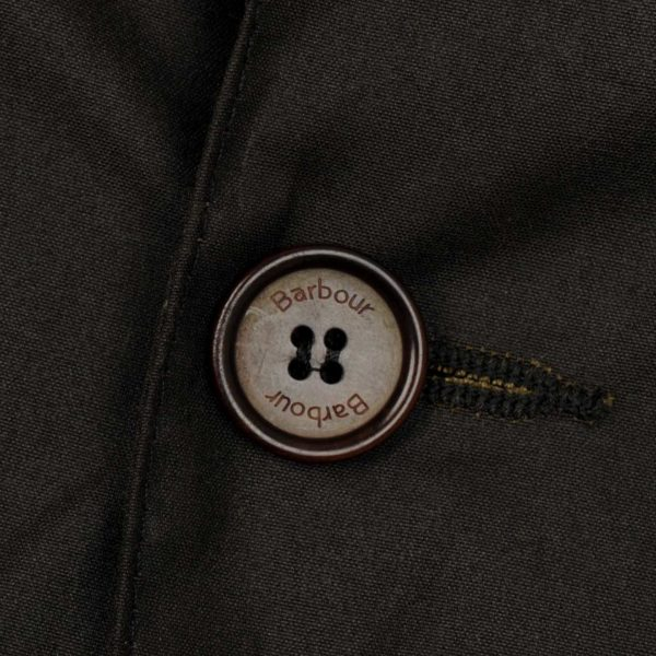 Barbour Beacon Sports Jacket Button Olive