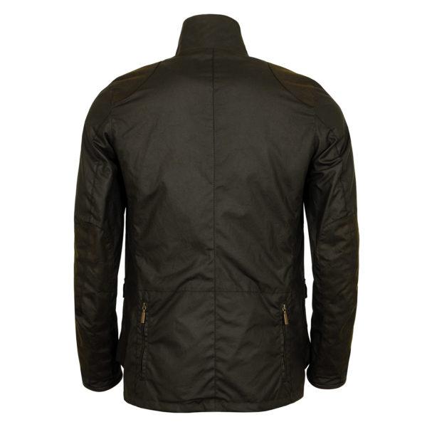 Barbour Beacon Sports Jacket Back Olive