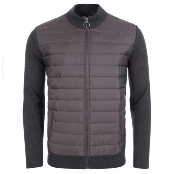 Barbour Carn Baffle Zip Thru Solid Charcoal