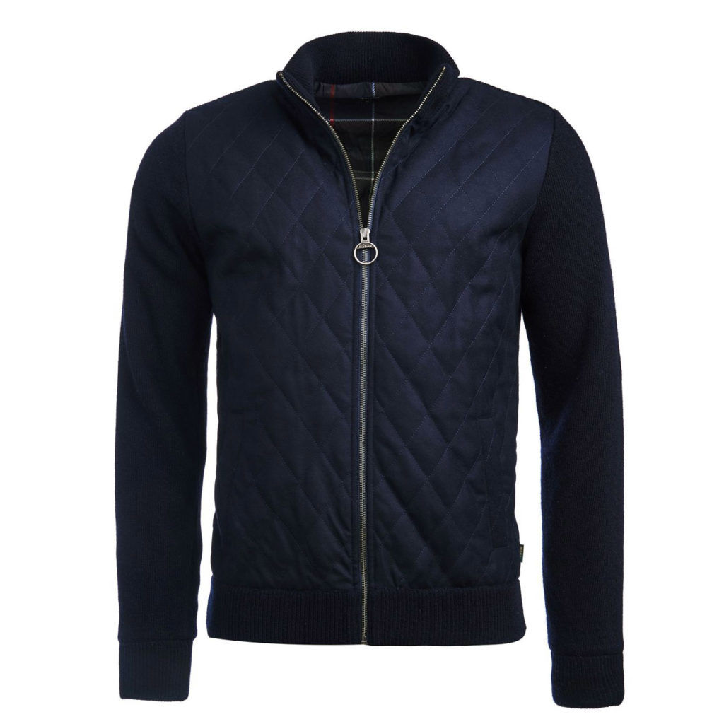 Barbour Culzean Zip Through Knit Navy