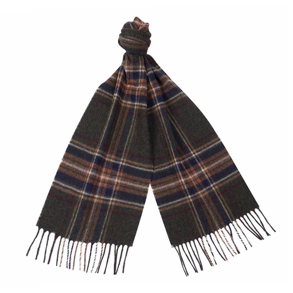Barbour Elwood Scarf Olive Plaid