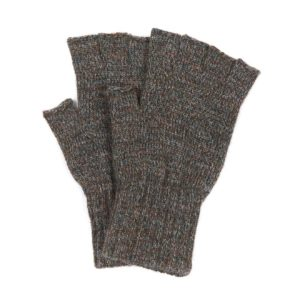 Barbour Fingerless Gloves Olive Green