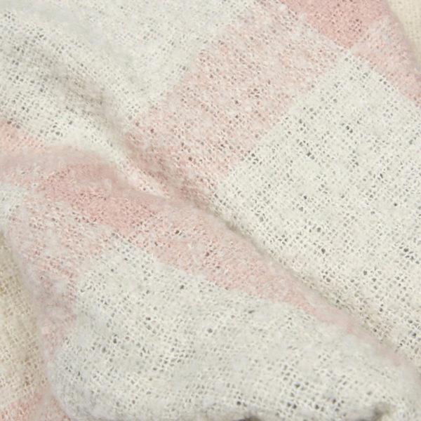 Barbour Plaid Boucle Wrap Pattern Ecru Pine Grey