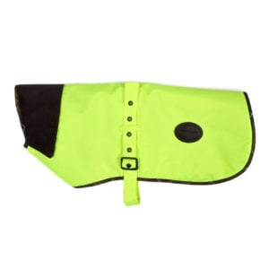 Barbour Waterproof High Visibilty Dog Coat Yellow