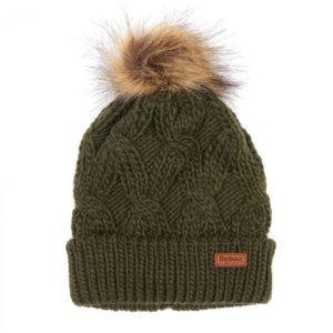 Barbour Womens Ashridge Beanie Hat Fern