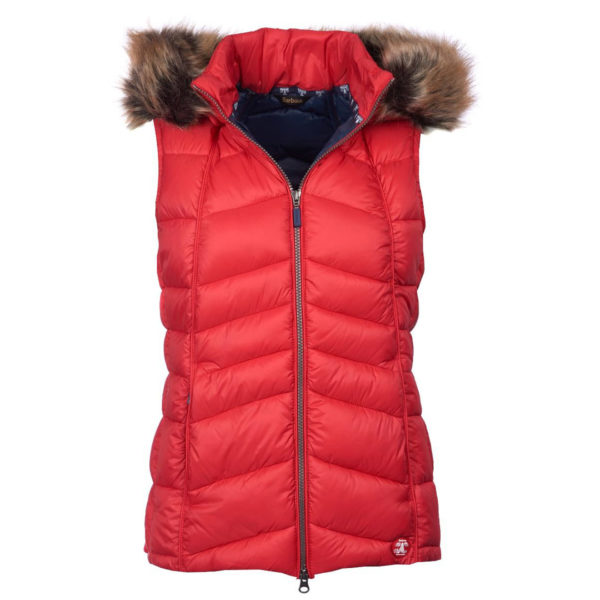 Barbour Womens Bernera Gilet Reef Red