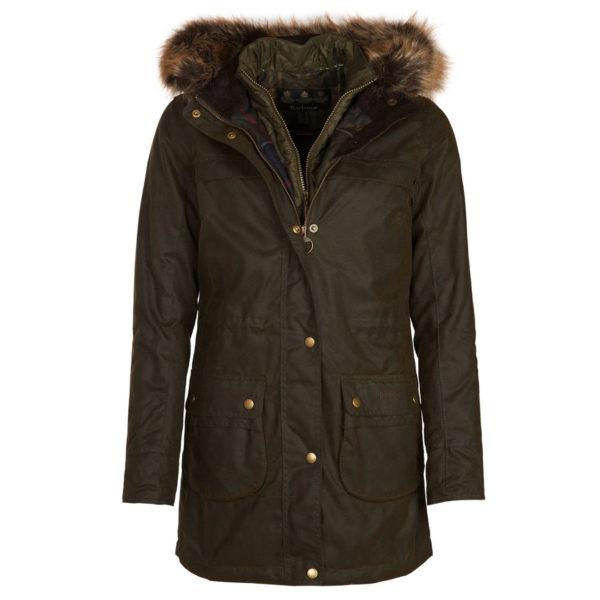 Barbour Womens Dartford Wax Jacket Olive