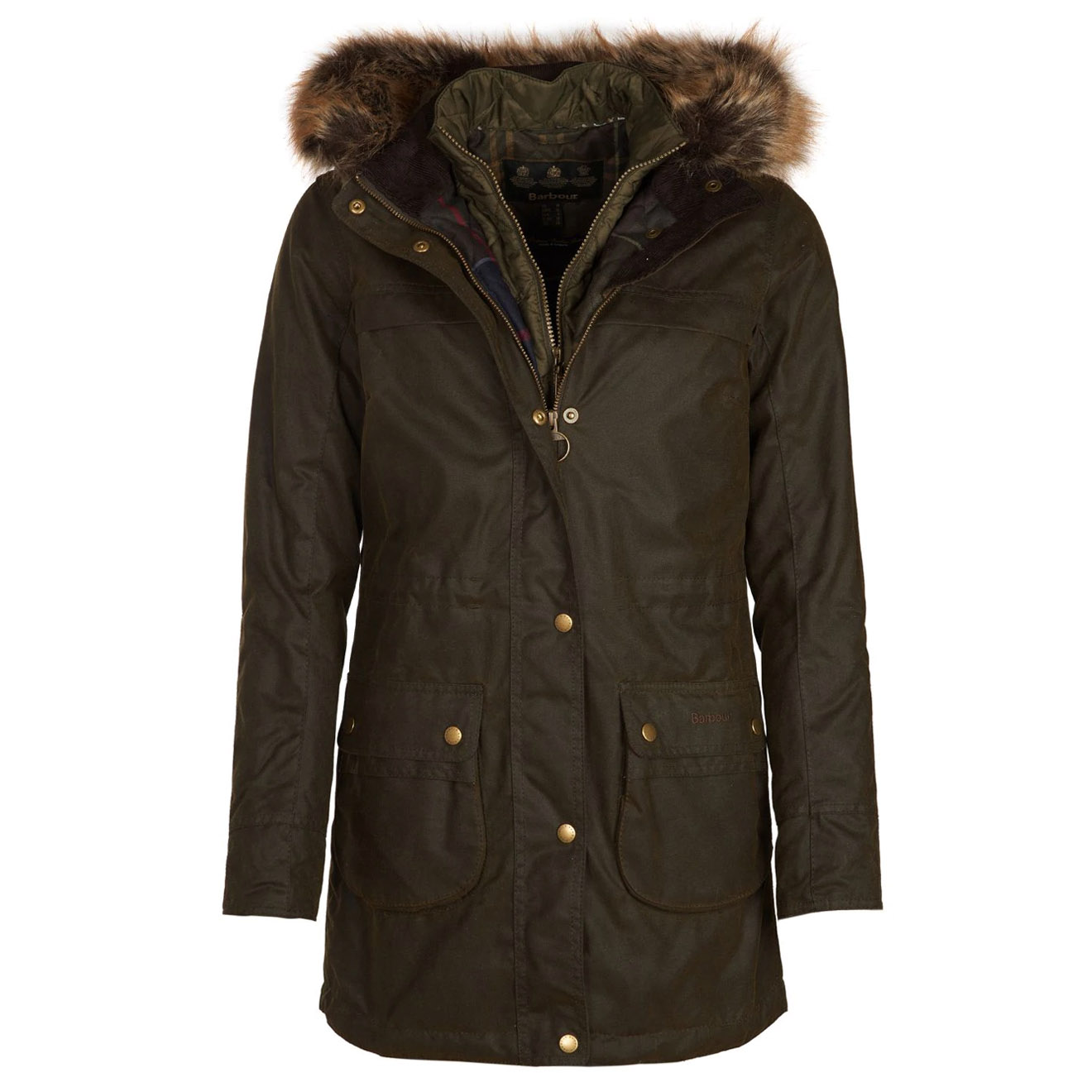 Barbour Womens Dartford Wax Jacket Olive The Sporting Lodge