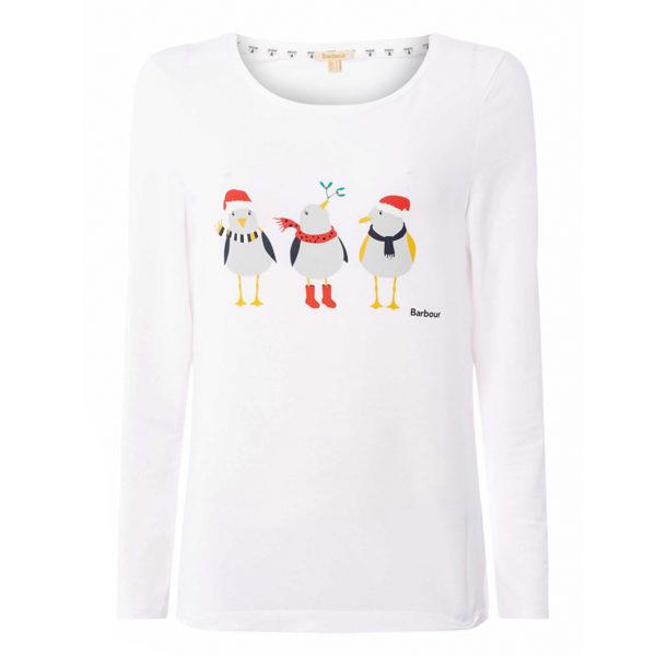 Barbour Womens Dunbar Tshirt White