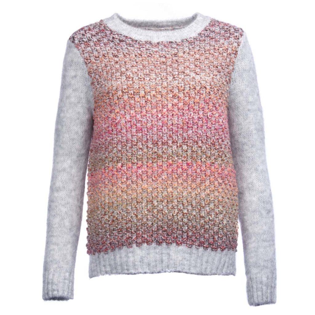 Barbour Womens Hamble Knit Light Grey