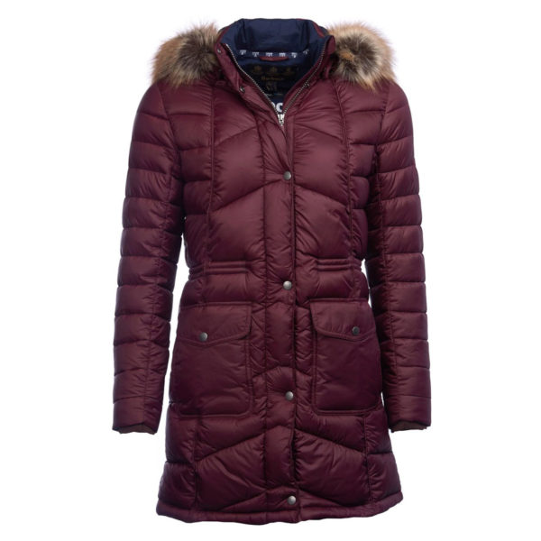 Barbour Womens Hamble Quilt Jacket Aubergine
