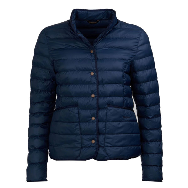 Barbour Womens Hollybush Quilted Jacket Navy