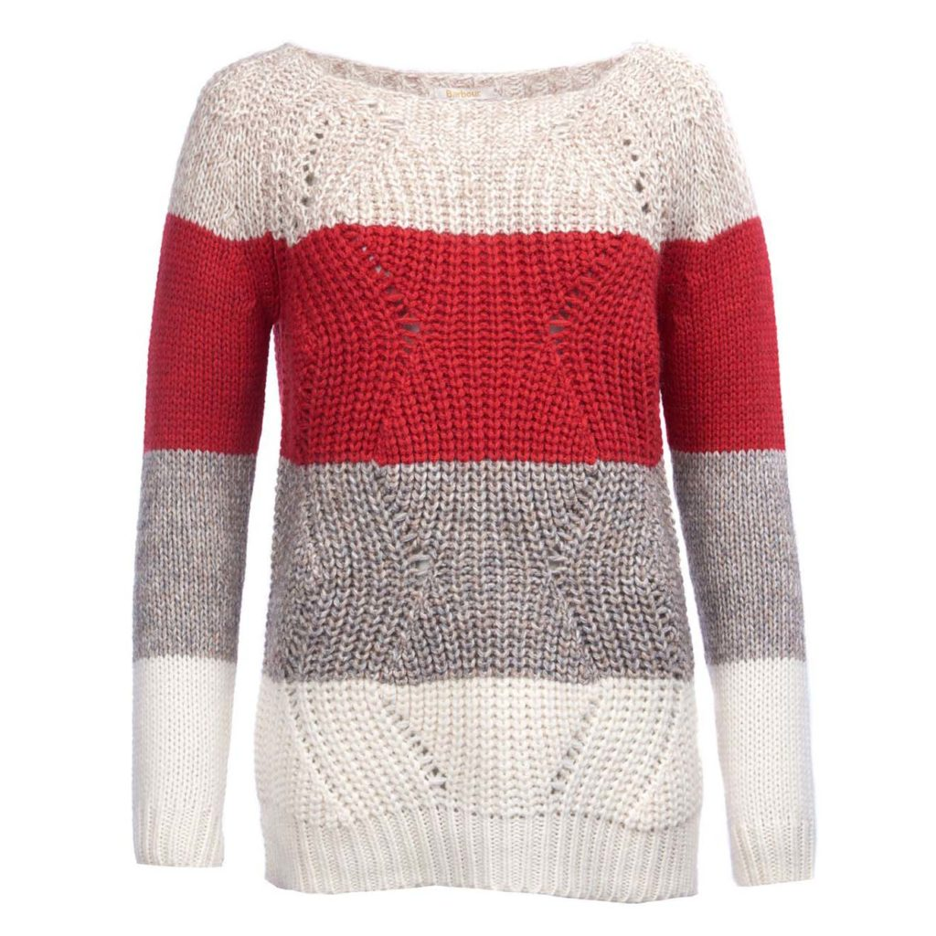 Barbour Womens Padstow Knit Chilli Red