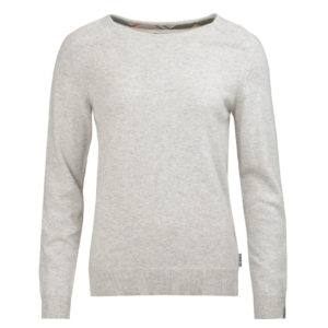 Barbour Womens Pendle Crew Knitwear Pale Grey