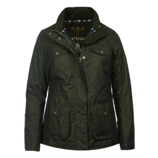Barbour Womens Rhossili Wax Jacket Fern