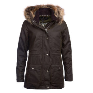 Barbour Womens Ventnor Wax Jacket Olive