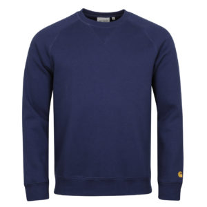 Carhartt Chase Sweat Metro Blue Gold