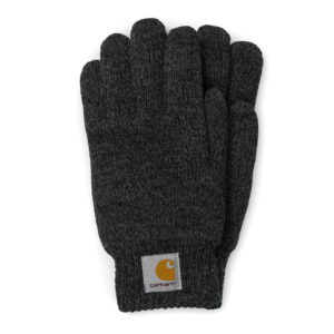 Carhartt Scott Gloves Dark Grey Heather Black