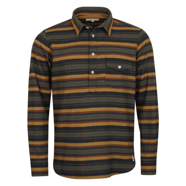Far Afield Pocket Pop Over Flannel Shirt Hac Stripe